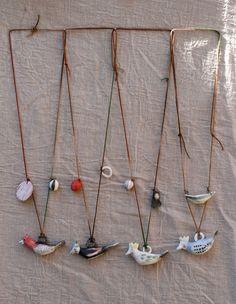 erin's window - bird pendants