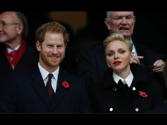 Prince Harry and Princess Charlene attended the England vs South Africa match