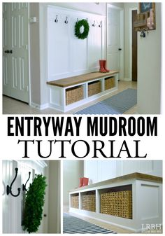 Create a gorgeous and functional entryway mudroom with this step-by-step tutorial.