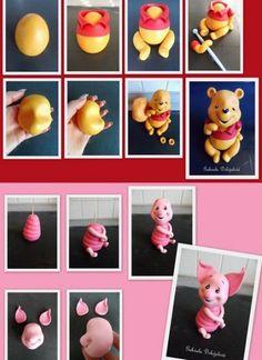Cupcakes Disney Fondant Winnie The Pooh Ideas Cupcakes Disney Fonda. - Senin - Cupcakes Disney Fondant Winnie The Pooh Ideas Cupcakes Disney Fondant Winnie The Pooh - Fondant Cake Toppers, Fondant Icing, Fondant Cupcakes, Fun Cupcakes, Winnie Pooh Torte, Winnie The Pooh Birthday, Disney Winnie The Pooh, Fondant Figures Tutorial, Cake Topper Tutorial