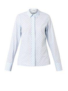 Jil Sander Silvia Swiss-dot cotton shirt