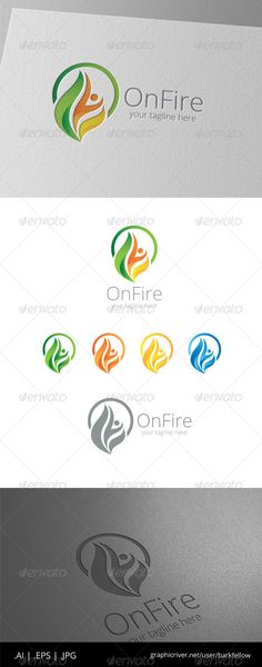 keywords: human resources logo design figure people person community fire passion