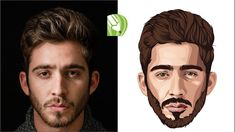 Photoshop Filters, No Photoshop, Vector Art, Draw Vector, Vector Illustrations, Man Illustration, Drawing Tablet, Portraits From Photos, Vector Portrait