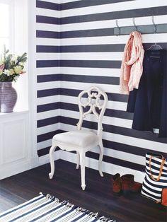 Wohntrend Streifen: Tapete, Teppich & Textilien