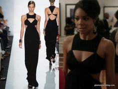 Being Mary Jane Fashion Recap: Michael Kors Spring 2013 Cut-Out Black Dress