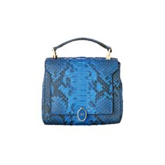 VOGUE ❤ liked on Polyvore featuring bags, handbags, blue bag, blue purse and blue handbags