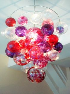Ruby & Amethyst Bubble Chandelier