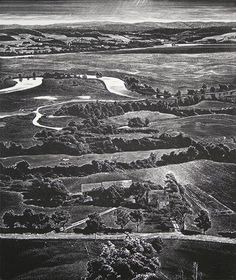 Leon Gilmour (American, 1907-1996). The Oxbow, Kennebecasis River, N.B., Canada. 1984. (wood engraving)