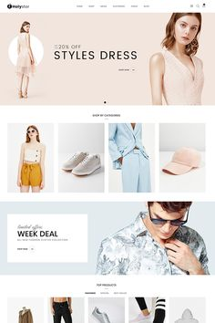 Holyster WooCommerce Theme Picture For Web Design food For Your TasteYou are looking for something, and it is going to tell you exactly what you are looking for, and you didn't find that Ecommerce Website Design, Website Design Layout, Website Design Inspiration, Website Designs, Web Layout, Fashion Website Design, Fashion Design, Template Web, Website Template