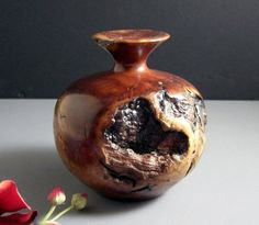 Exceptional Turned Redwood Burl Vase // by Successionary on Etsy, $297.99