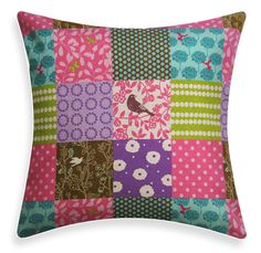 Pink / Purple / Turquoise Pillow Cover  Japanese Echino by ModDiva, $29.95