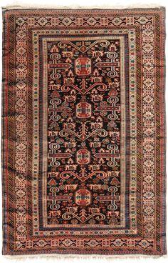 Schuler Auktionen Zürich  |   Prepedil N-Kaukasus, um 1900 120x170 cm (ft. 4x5.6).