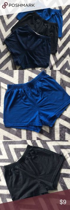 Bundle of 3 SOFFE shorts BLUE & NAVY - Size Medium   BLACK- Size Large. Each worn a handful of times times but still in great condition. Blue does not have a size tag but was purchase at the same time as navy. Original is the total of all and listing price is the total of all Soffe Shorts