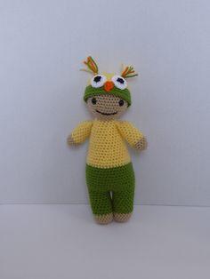 Owl Baby Doll, Animal Baby Doll, Baby Owl Doll, Crochet Animal Doll, Owl Baby Doll Amigurumi, Crochet Owl Baby Doll, Baby Shower Gift by AlexsGiftShop on Etsy