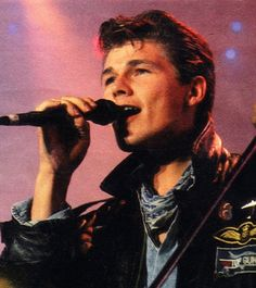 Morten Harket - I was rabidly obsessed with him in the 80's. Then met him 30 years later and he is still hot; but it was so weird meeting him.