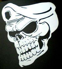 high detail airbrush stencil army skull FREE UK POSTAGE