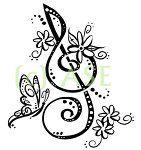New tattoo music butterfly treble clef ideas Tatoo Music, Music Tattoos, Body Art Tattoos, New Tattoos, 16 Tattoo, Tatoo Henna, Note Tattoo, Design My Own Tattoo, Music Tattoo Designs