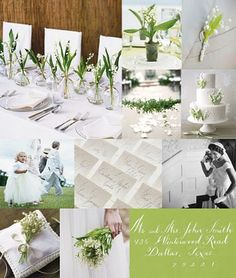 If I had a short period of time to pull off a wedding I would do something simple and elegant like this. However, my intention is to have a long engagement :-)