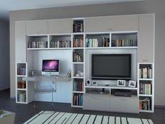 oficina-con-muebles-blancos … Más