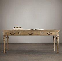 French Partner's Desk from Restoration Hardware  Hmmm how can I make???