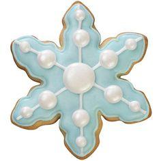 Stylish Snowflake Cookie - Distinctive snowflake design make sparkling cookies that celebrate the season!