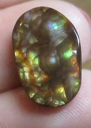 All Natural Free form MEXICAN Fire Agate GEM stone  Multicolored 10x16