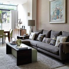 Classic open-plan living room | Living room decorating | Homes & Gardens | Housetohome.co.uk