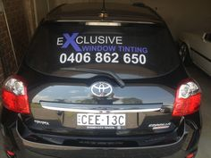 This is Exclusive Window Tinting Sydney's mobile window tinting service car.