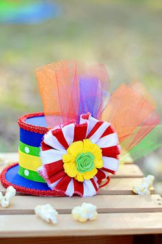 Circus Big Top Ringmaster Mini Top Hat Headband All by craftmomof3