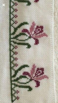 Cross Stitch Bird, Cross Stitch Borders, Cross Stitch Flowers, Cross Stitch Designs, Cross Stitch Embroidery, Cross Stitch Patterns, Hand Embroidery Flowers, Vintage Embroidery, Embroidery Patterns