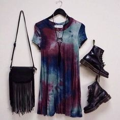 30 goth dress in the summer - Stil Mode - Man Boots Grunge Fashion, Look Fashion, Fashion Outfits, Fashion Ideas, Tie Dye Fashion, Punk Outfits, Hippie Fashion, Hippie Outfits, Diva Fashion