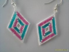 Brick Stitch 3D Illusion Diamond Delica Beads by Beadedforu, $18.00