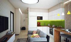 Fiatal férfi kétszobás, 47m2-es lakása, beépített erkéllyel