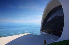 The curved body of the Auditorium in Ravello. Oscar Niemeyer.  Via della Repubblica, 12. Ravello (Sa)