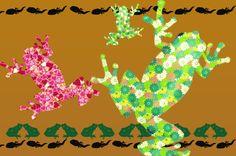 カエルの可愛いイラスト素材集!おしゃれな柄のカエルがいっぱい!おたまじゃくしのシルエットやジャンプするカエルの素材も!