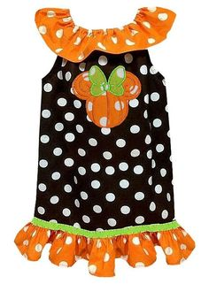 MINNIE MOUSE PUMPKIN Thanksgiving Dress or by ChildrensCottage, $49.95 For NEXT Thanksgiving trip to Disney.