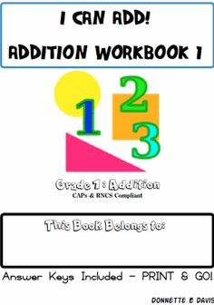 I Can Add! No Prep Addition Workbook 1 Grade 1 - St Aiden's Homeschool |  | For Little people | Themes, Seasonal & Holidays | Math | Worksheets | PrintablesCurrClick