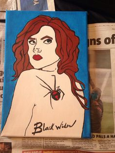 Black Widow Canvas completed !