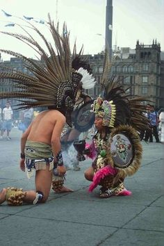 An aztec dance in Zocalo, Mexico City. Definitely one of the richest parts of our culture.