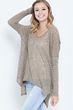 Lane Pullover in Mocha | Women's Clothes, Casual Dresses, Fashion Earrings & Accessories | Emma Stine Limited