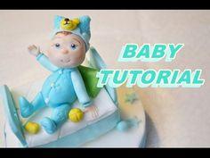 BABY CAKE TOPPER FONDANT TUTORIAL FOR BAPTISM CAKE - TORTA BATTESIMO PASTA DI ZUCCHERO - YouTube