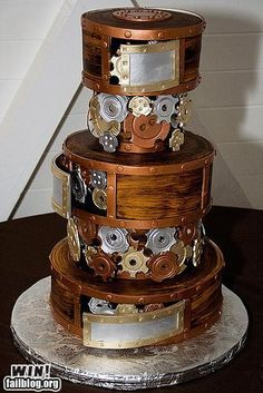 STEAM PUNK CAKE. Someone please order this cake so I can make it. Heck - I'll make it for me!