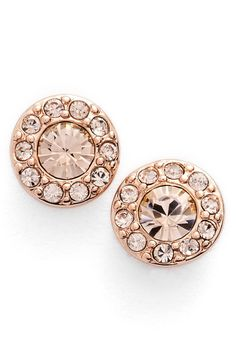 Obsessing over the rose gold tone of these Givenchy crystal earrings. They're the perfect accessory.
