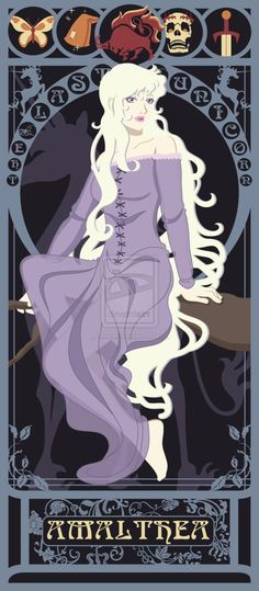 The Last Unicorn Nouveau by ~kishokahime on deviantART (Lady Amalthea)