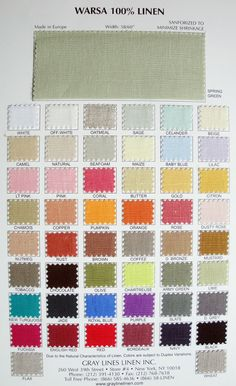 Little Green Notebook- grayline linens - great source for upholstery linen