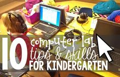 Using computers in kindergarten means lots of new skills to learn. Here are the types of things that helps kindergartners be successful, basic skills needed and tips for teaching kindergarten students. I like to use kindergarten games to teach standards rather than just teaching keyboarding or computer skills.