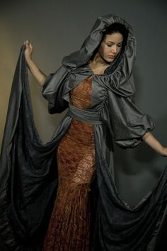 One-of-a-kind designs that accentuate the feminine form as well as her spirit Mermaid Purse, Neo Victorian, Cloak, Lily, Feminine, Couture, Awesome Things, How To Wear, Clothes