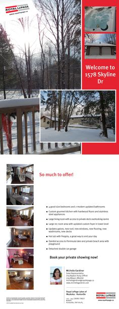 Muskoka home, cottage and chalet all in one! For sale, see flyer for details on this unique offering!