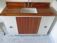 Best Custom Vanity- White Oak, Mahogahny