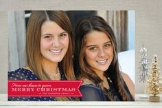 Red Ribbon Happiness Christmas Photo Cards by Coco Paperie at minted.com